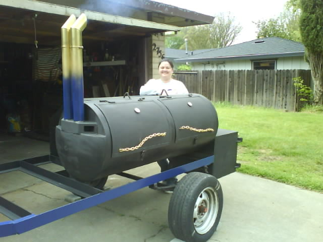 homemade BBQ trailer smoker ideas