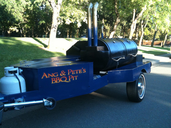 homemade BBQ trailer smoker